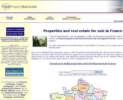 www.frenchpropertysearch.com properties for sale in France