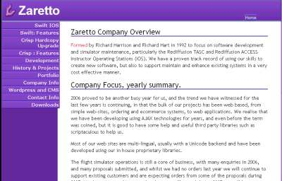 Zaretto Home Page